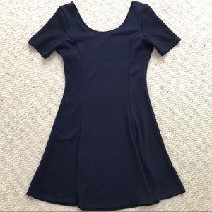 H&M Navy Skater Dress - Size 10